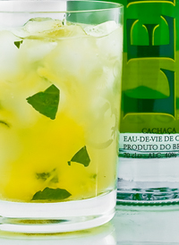 Mint Pineapple Caipirinha