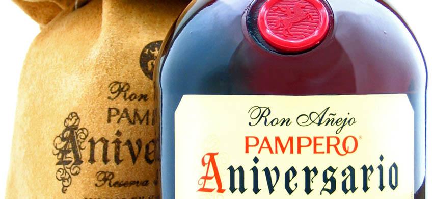 Pampero aniversario výtečný rum v koženém obale.